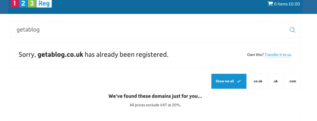 Domain no longer available