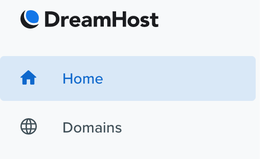 DreamHost home