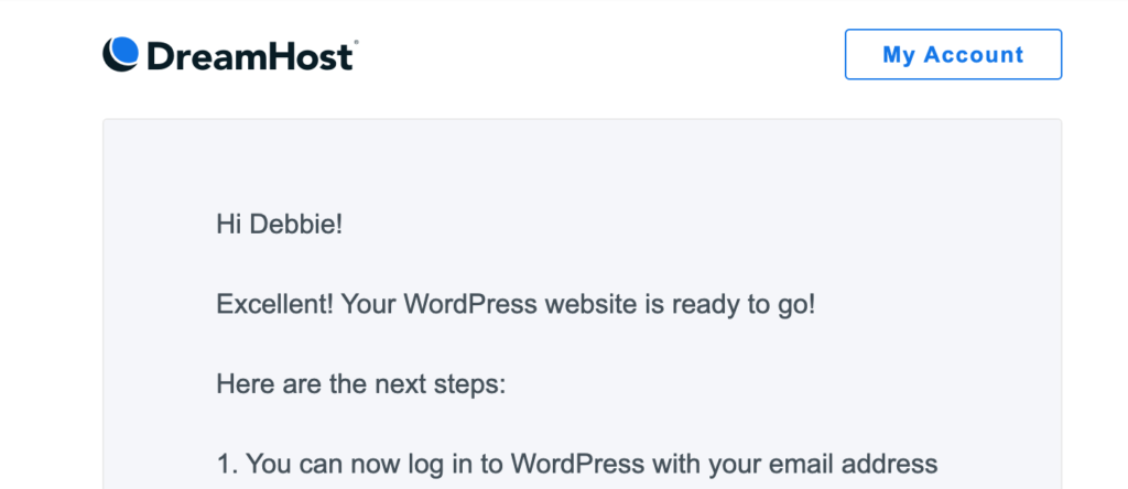 WordPress email confirmation